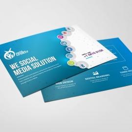 Social Media Post Card with Social Icons