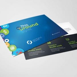 Social Media Postcard with Social Icons