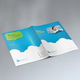 Social Media Presentation Folder With Paste Accent