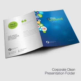 Social Media Presentation Folder with Social Icons