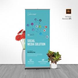 Social Media Rollup Banner
