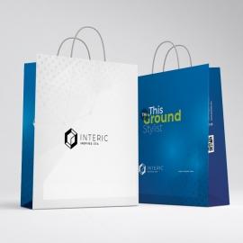 Social Media Shopping Bag with Social Icons