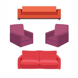 Sofa Vector for Free Download