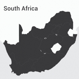 South Africa Continent Map Vector Design