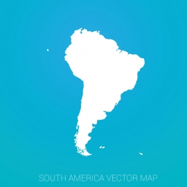 South America Map By Gradient Background