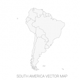 South America Map By Stroke and Dot's