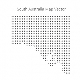 South Australia Map By Dots Vector Design