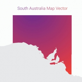 South Australia Map By Gradient Color Vector Design
