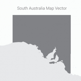 South Australia Map Dark Vector Design