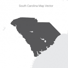 South Carolina Map Dark Vector Design