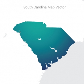 South Carolina Map Gradient Color Vector Design