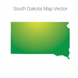 South Dakota Map By Gradient Vector Design