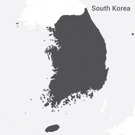 South Korea Map Vector Design
