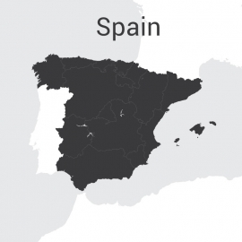 Spain Map Vector Design