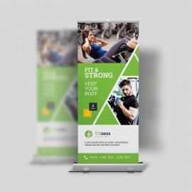 Sport & Fitness Roll-Up Banner