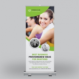 Sport & Fitness Roll-Up Banner Design