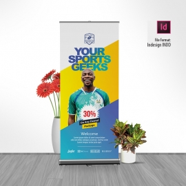 Sports Rollup Banner Signage