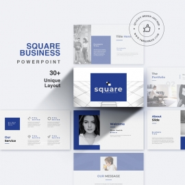 Square Business PowerPoint Presentation