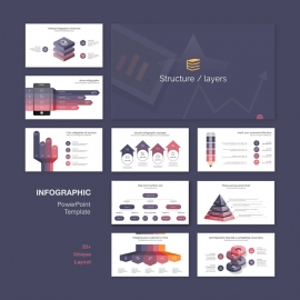 Structure & Layers Infographic PowerPoint