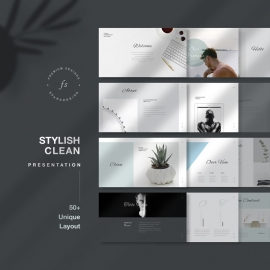 Stylish Clean PowerPoint Template