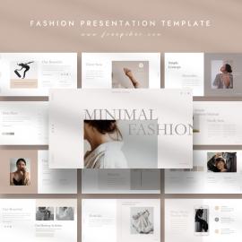 Stylish Minimal Fashion PowerPoint Template