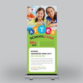 Summer Kids Camp Roll-Up Banner