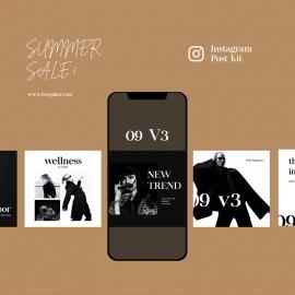 Summer Sale Instagram Posting Kit