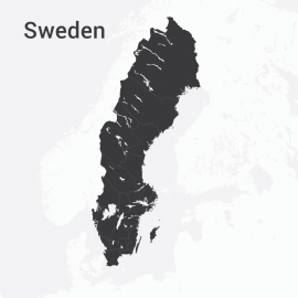 Sweden Map Vector Design
