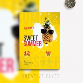 Sweet Summer Flyer With Yellow Accent