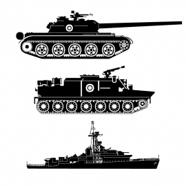Tank And Ship Vector