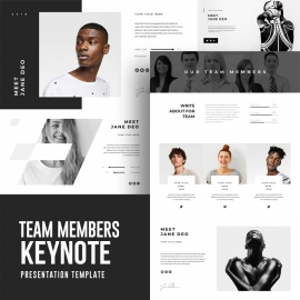 Team Members Keynote Template
