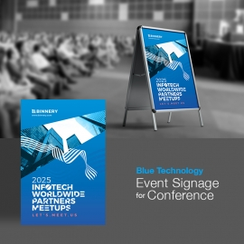 Technology Event Back Signage For Conference