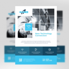 Technology Flyer With Boxs
