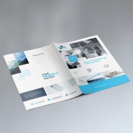 Technology Presentation Folder With Boxs