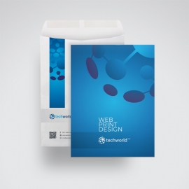 Technology World C4 Envelope Catalog Blue Accent