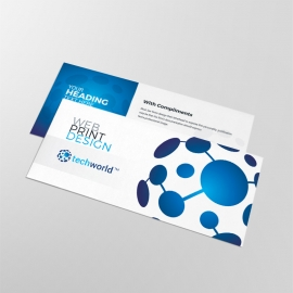 Technology World Compliment Card Blue Accent