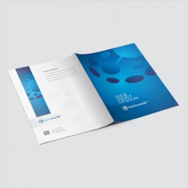 Technology World Folder With Blue Accent
