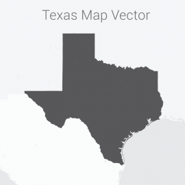 Texas Map Dark Vector Design