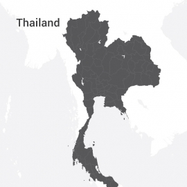 Thailand Map Vector Design