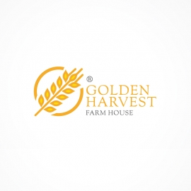 Golden Harvest Agriculture Farm House Logo