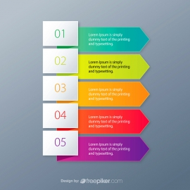 Banner Arrow Colorful Infographic