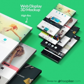 3D Web Display Showcase Mockup
