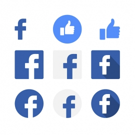 Facebook Social Media Icon Vector Icons