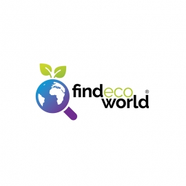 Find Eco World Search Globe & Plant Symbol Logo