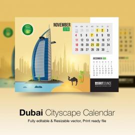 Dubai Cityscape Calendar