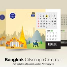 Bangkok Cityscape Calendar