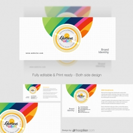 Color Glorious Compliment Card Design