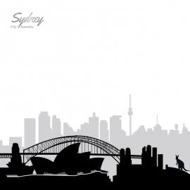Sydney Skyline Travel Vector