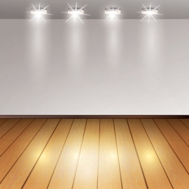 Spotlight Wooden Floor