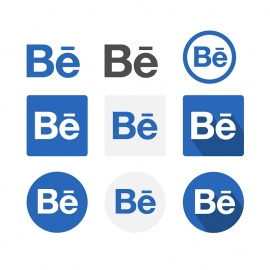 Behance Social Media Icon Vector Icons